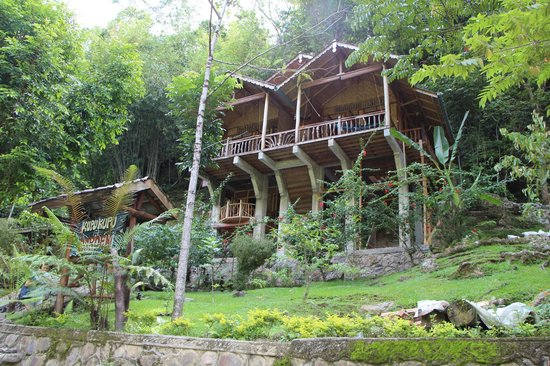 Kupu-Kupu Garden Guest House & Cafe: View of the compound and elevated rooms