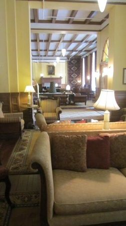 the lobby of Hotel Colorado