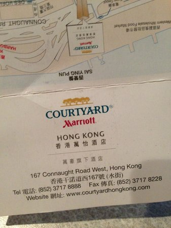 Courtyard Hong Kong: Card to use for Taxi Drivers - Very Helpful