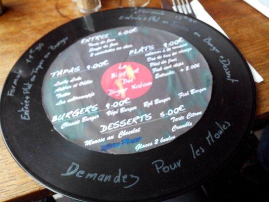 Digor Kalon : Meme la carte des menus .est originale.