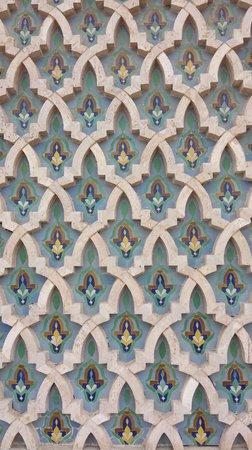 Mosquée Hassan II : facade detail