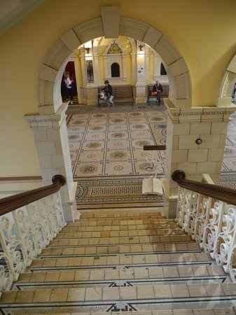 Royal Doulton staircase at Dunedin Railway Station