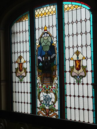 Stained glass at Dunedin Railway Station