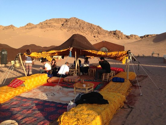 Atlas and Sahara Tours : Nomadic Camp for overnight stay in Zagora Sahara