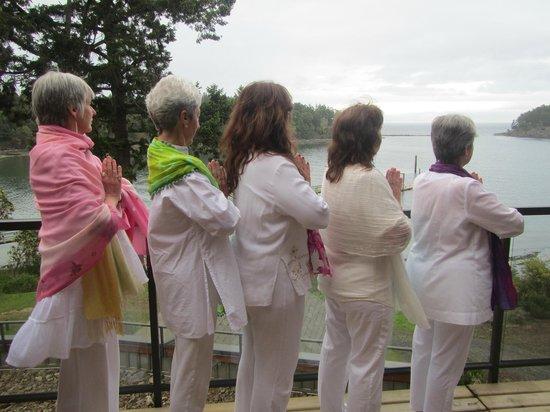 Mayne Island Resort: Meditating on the view