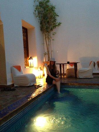 Riad l'Orangeraie: Pool area