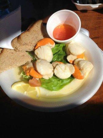 Oban Seafood Hut: Scallops were delicious