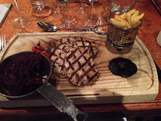 The Wild Boar: Wild Boar Medallions with Triple Cooked Chips