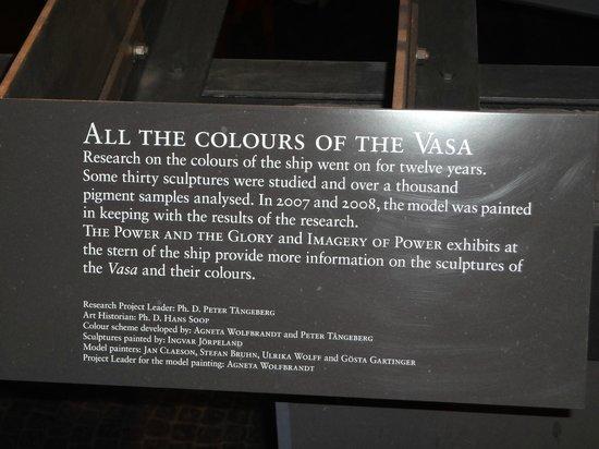Vasa-Museum: Colours of the Vasa