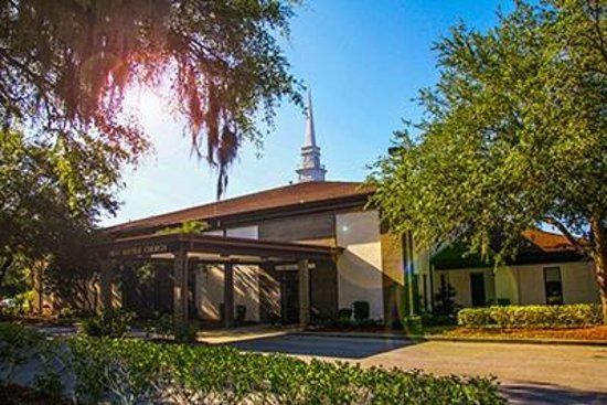 First Baptist Church of Mount Dora: Church from North Parking Lot