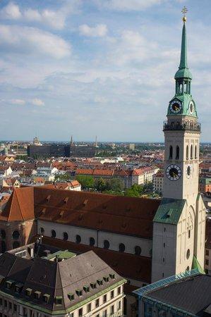 Neues Rathaus: Вид со смотровой площадки