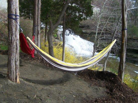 Finger Lakes Waterfall Resort: Hammock Area