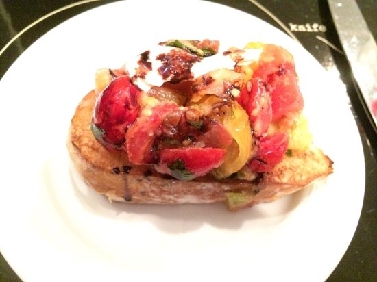 Bruschetta Comes Out On A Wooden Board With Two Servings Picture Of Pantaleone 39 S New York