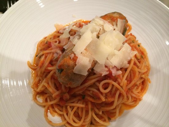 Spaghetti With Housemade Sausage Picture Of Pantaleone 39 S New York Pizza Denver Tripadvisor