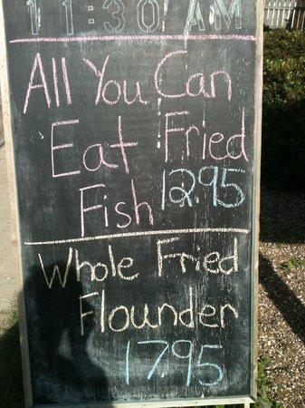 Tarpon Inn : Fish House Menu