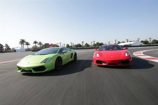 Exotics Racing - Los Angeles: Lamborghini Gallardo + Ferrari F430F1 on track