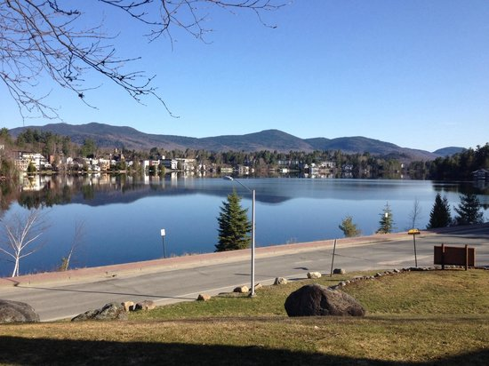 Lake Placid Club Lodges: Mirror Lake from lower deck May 6th 2014. Gorgeous!