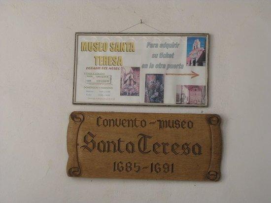 Santa Teresa Convent Museum - Convento Museo Santa Teresa: The museum