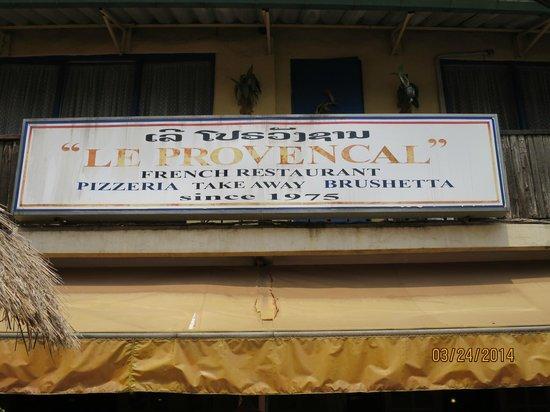 Restaurant Le Provencal : Restaurant sign