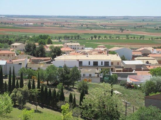 Insula Barataria: View of Casa Insula from Castillo de Belmonte