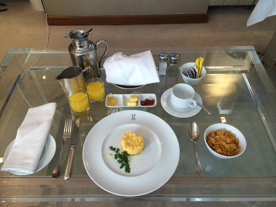 the g Hotel & Spa Galway: In-Room Breakfast