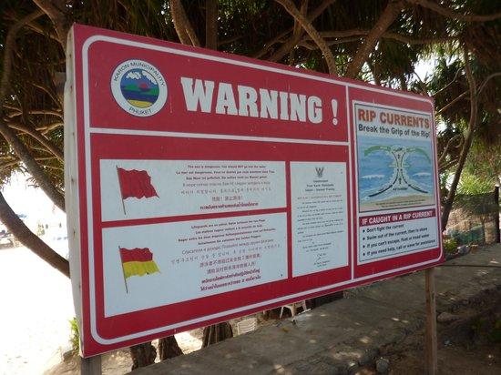 Kata Beach : Attention aux courants!!