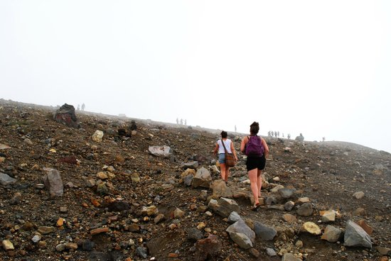 Santa Ana Volcano: There is a series of switchbacks that creates an ever-changing view.
