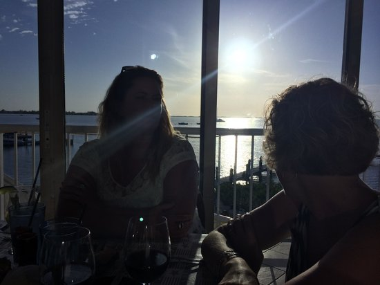 Bayside Grille & Sunset Bar : Sunset from upstairs