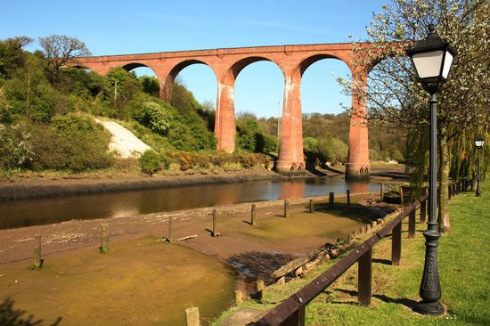 Captain Cook's Haven: View from our cottage overlooking the river toward the viaduct