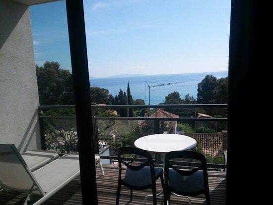 Hotel Les Terrasses du Bailli : Terrasse