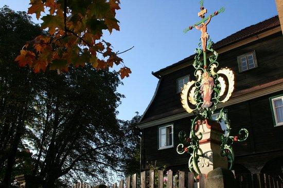Bohemian Switzerland National Park: Kogler cross. Krasna Lipa - Kamenná Horka
