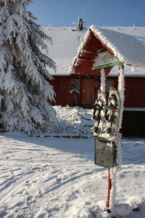 Bohemian Switzerland National Park: Rental snowshoes in Krasna Lipa