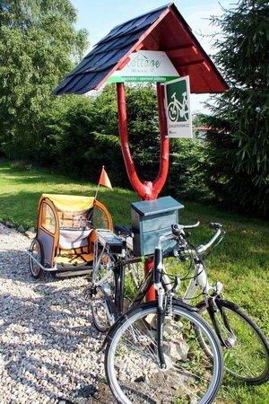 Bohemian Switzerland National Park: Rental bikes in Krasna Lipa. www.cottage.cz