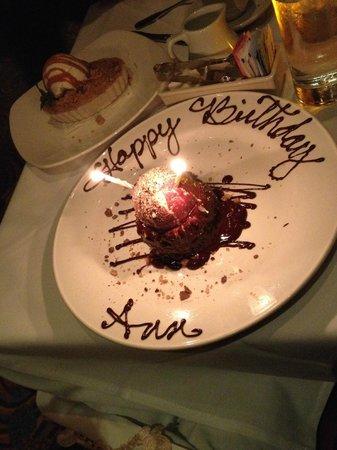Astonishing Birthday Lava Cake Picture Of Chart House Scottsdale Tripadvisor Funny Birthday Cards Online Benoljebrpdamsfinfo