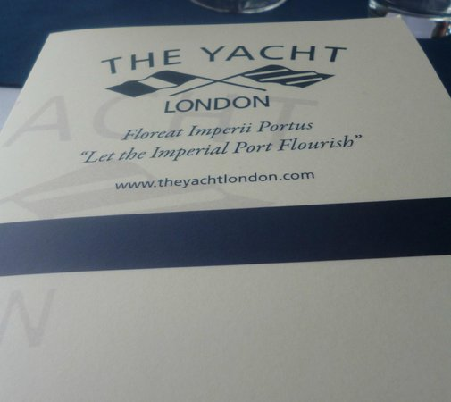 The Yacht London : The name of this charming Restaurant