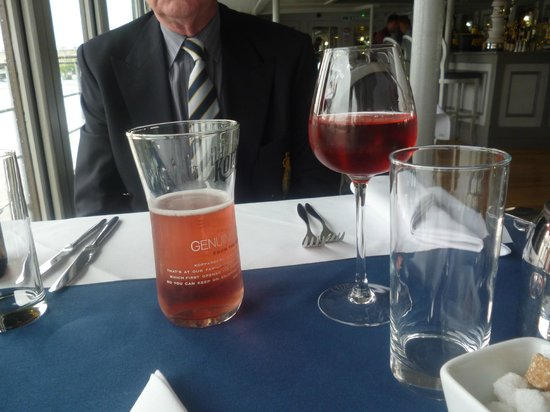 The Yacht London : This was our drinks, as well as i had a cup of tea,.
