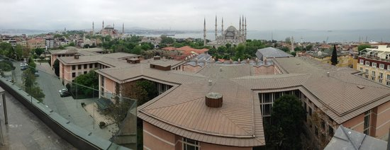 Hotel Arcadia Blue : Panoramic view of Istanbul from the restaurant -- with the building blocking lower level views.