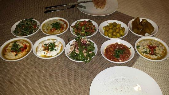 National Hotel Jerusalem: Abendessen Oriental Mezza