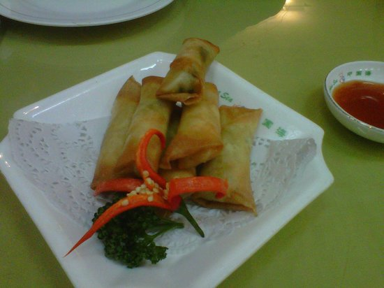 China Sea : vegetable springrolls from ala carte