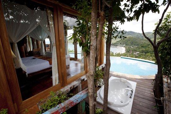 Santhiya Koh Phangan Resort & Spa : View from privat pool V