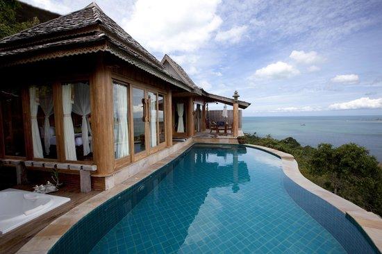 Santhiya Koh Phangan Resort & Spa: View from privat pool