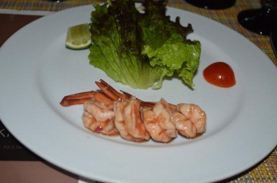 Hotel Riu Lupita: shrimp cocktail at the steakhouse