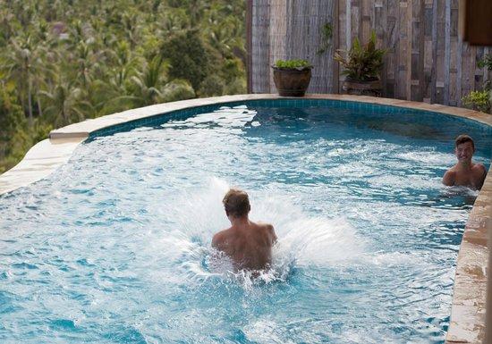 Santhiya Koh Phangan Resort & Spa: Kids playing in our private pool