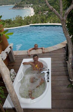 Santhiya Koh Phangan Resort & Spa: View from privat pool III