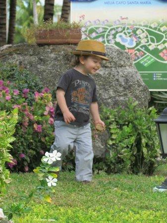 Melia Cayo Santa Maria : Grandson enjoying  the lovely gardens