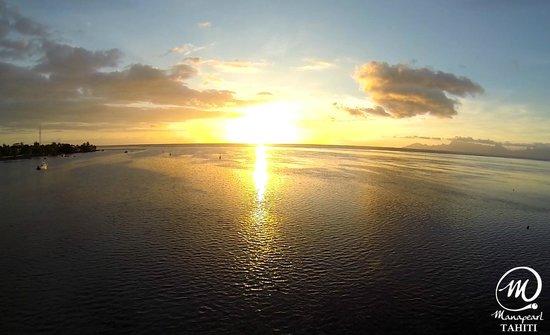 Manapearl Tahiti : Lagoon Sunset, Tahiti
