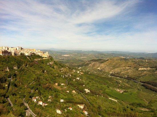 Castello di Lombardia (Enna) : Castello di Lombardia a Enna, panorama