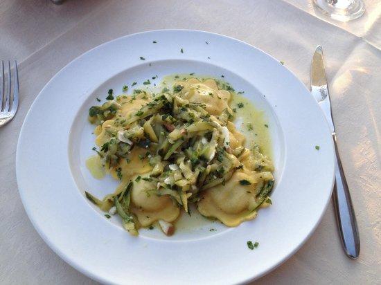 al storico da Crea: Ravioli with Sea Bass and Courgette