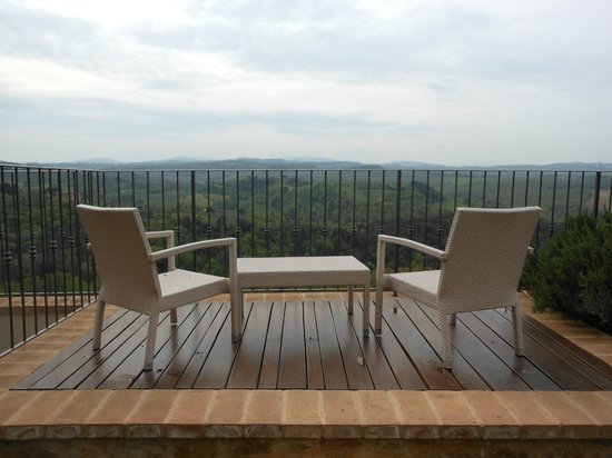 A place to relax and enjoy the view at Casa Moricciani