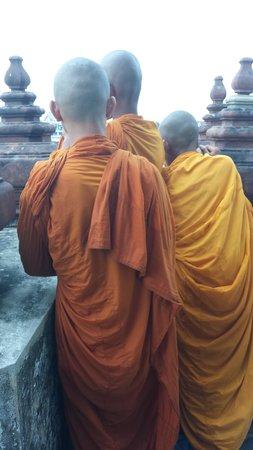 Wat Arun (Tempel der Morgenröte): only half way up !!